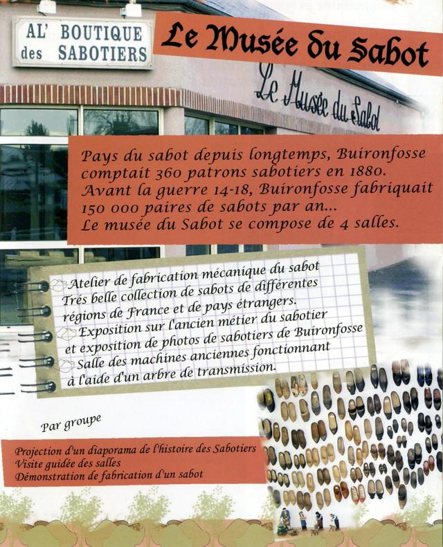 Animations de l'Amicale du Musée du Sabot de Buironfosse