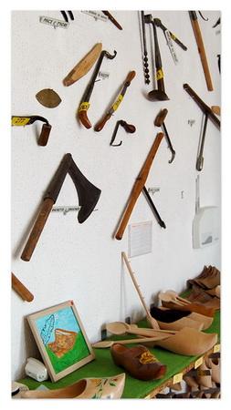 Salle des outils du sabotier manuel